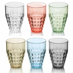 22570352 set 6 vasos altos tiffany Multicolor